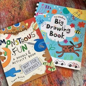 NEW 2 drawing & activity books